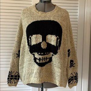 Oatmeal/black skull sweater